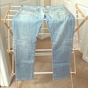 AG light wash slim jeans